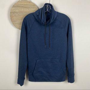 H&M Navy Funnel Neck LS Sweatshirt Size XS